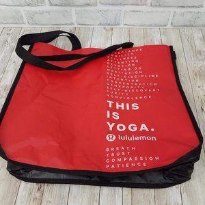 Lululemon Reusable This Is Yoga Shopping Tote Bag